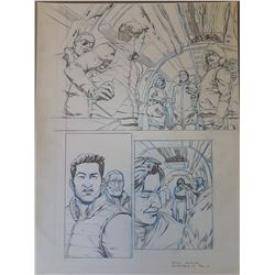 Uncharted 3 Original Art, Comic Book #3 Page 12