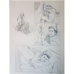 Uncharted 3 Original Art, Comic Book #4 Page 17