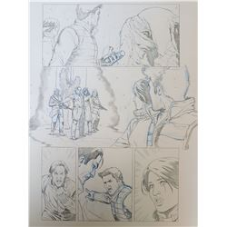 Uncharted 3 Original Art, Comic Book #4 Page 19