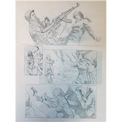 Uncharted 3 Original Art, Comic Book #5 Page 11