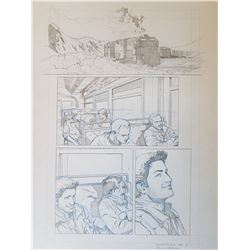 Uncharted 3 Original Art, Comic Book #6 Page 1