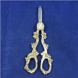 Pair of Antique Silver Ware Grape Shears / Scissors - 160mm Long