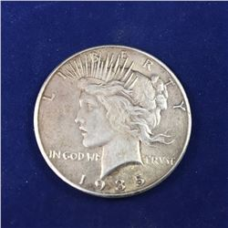 1935 USA Silver Peace Dollar Coin - Lower Mintage