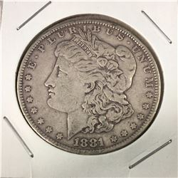 1881 US Morgan Silver Dollar