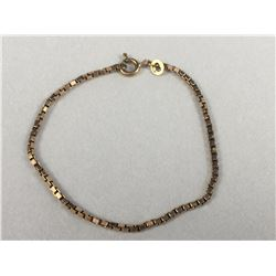 9ct Gold Vintage Bracelet - Length 160mm - Weight 2.85 Grams