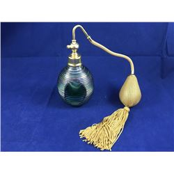 Stunning Vintage Art Glass Pefume Bottle with Spray Atomizer - Possibly Murano (Bulb & Atomizer work