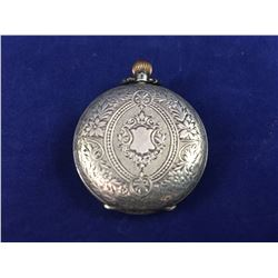 Antique .935 Silver Longines Baume Full Hunter Pocket Watch - Beautifully Engraved & with J. Forbes,