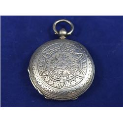 1881 C Mathery Sterling Silver Full Hunter Pocket Watch With Double Key Wind & with Stunning All Ove