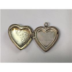Vintage Sterling Silver Opening Heart Sweet Hearts Photo Locket - 24mm Long