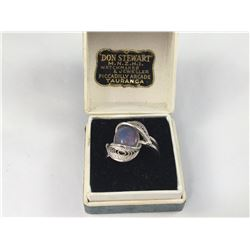 Vintage Opal Triplet Ring by Don Stewart Jewelers , Tauranga - With Original Box - 17.50mm Inside Di