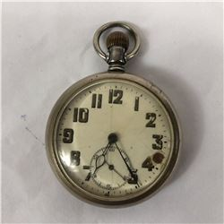 Antique Open Face Miner Pocket Watch Swiss Made 15 Jewels & Lever