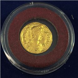 A.D. 402-450 Pure Gold Coin - Theodosius II (A.D. 402-450), Gold Tremissis, Constantinople mint,  A.