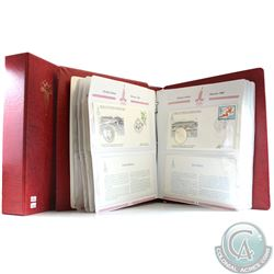 Volume 1: 1980 Moscow XXII Olympic Games First Day Cover Collection in Deluxe Red Binder. Binder con