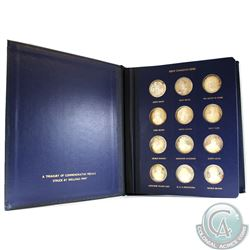 The Great Canadians 24-coin Sterling Silver Set in Deluxe Blue Binder from the Welling's Mint. This