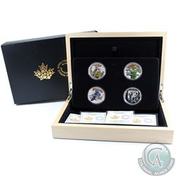 2016 Canada $15 National Heroes 4-coin Fine Silver Set with Deluxe Box. TAX Exempt