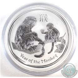 2016 Australia $30 Year of the Monkey .999 Silver Kilo Coin in Capsule (capsule is scuffed) TAX Exem