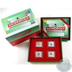 2013 Niue $1 Monopoly 1/4oz Fine Silver 4-coin Set in Deluxe Display Case and Outer Box (TAX Exempt)