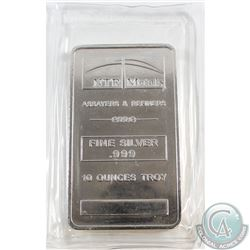 NTR Metals 10oz .999 Fine Silver Bar in Original Sealed Plastic (TAX Exempt)
