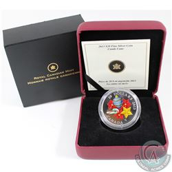 2013 Canada $20 Candy Cane Fine Silver Coin (capsule very lightly scratched & outer sleeve is lightl