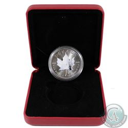 2014 Canada $5 Winter Coloured .9999 Fine Silver Maple Leaf Encapsulated in Red RCM Display Box (coi