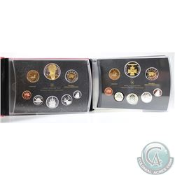 2006 & 2007 Canada Proof Double Dollar Sets. Please note the outer black cardboard sleeves have ligh