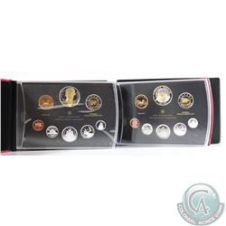 2007 & 2011 Canada Proof Double Dollar Sets. Please note outer black boxes & the 2011 COA have light