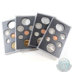 1986, 1987, 1988, & 1989 Canada Proof 6-coin Set from Double Dollar Sets. 4pcs.