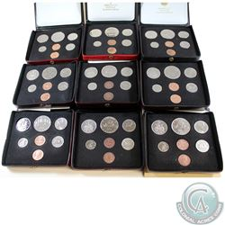 1971-1980 Canada Specimen Double Penny Sets. You will receive the following years, 1971, 1972, 1974,