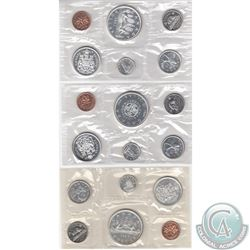1963, 1964, 1965 Canada silver Proof Like Sets. Please note coins may be toned which is typical. 3pc