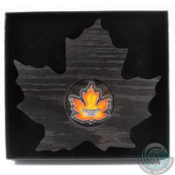 2016 $20 Canada's Colourful Maple Leaf Shaped Fine Silver Coin (Tax Exempt)