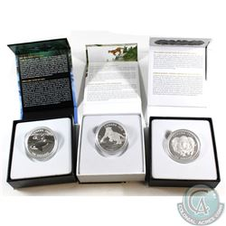 $100 for $100 Series Fine Silver Collection (Tax Exempt). You will receive the 2015 Muskox, 2016 Orc