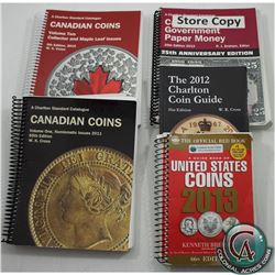 Lot of 2011-2015 Standard Catalogues of Coins & Paper Money. This lot includes the 2011 Charlton Sta