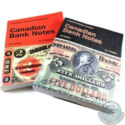 6th Edition & 7th Edition Charlton Catalogue of Chartered Canadian Bank Notes by R.J Graham. 2 Books