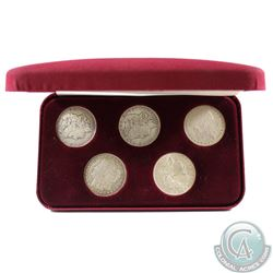 1884-1921 United States Silver Dollar Collection in NMC Presentation Case. You will receive the foll
