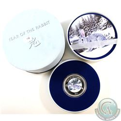2011 New Zealand $2 Coloured Year of the Rabbit Fine Silver Coin (Tax Exempt)