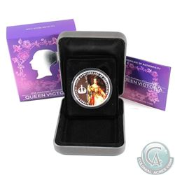 2013 Queen Victoria 175th Anniversary of Coronation 1oz Fine Silver Proof Coin (capsule is scuffed &