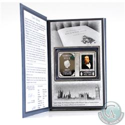 2015 Niue $2 1oz Charles Dickens 1812-1870 Fine Silver Coin in Book-Style Packaging (TAX Exempt)