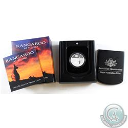 2012 Australia $1 Kangaroo at Sunset Fine Silver Proof Coin. TAX Exempt
