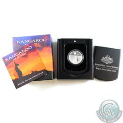 2013 Australia $1 Kangaroo at Sunset Fine Silver Proof Coin. TAX Exempt