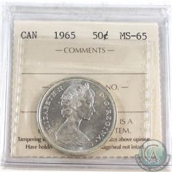 1965 Canada 50-cent ICCS Certified MS-65