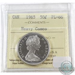1965 Canada 50-cent ICCS Certified PL-66; Heavy Cameo