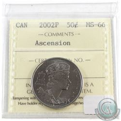 2002-P Ascension 50-cent ICCS Certified MS-66