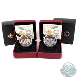 2014 Canada $5 Tradition of Hunting: Canada Goose & The Seal Fine Silver Coins (Tax Exempt) 2pcs.