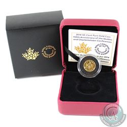 2014 Canada 50-cent Quebec & Charlottetown Conferences 1/25oz. Gold (Tax Exempt)