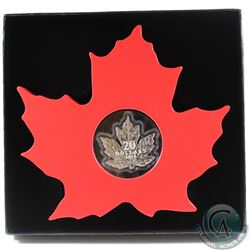 2015 $20 The Canadian Maple Leaf - Maple Leaf Shaped Fine Silver Coin (TAX Exempt)