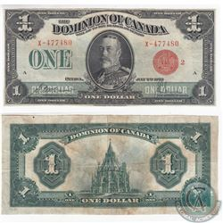 1923 $1.00 Note with McCavour-Saunders Signatures and Red Seal in Very Fine.