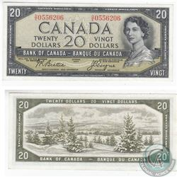 1954 Devil's Face $20.00 Note with Beattie-Coyne Signatures in VF-EF.