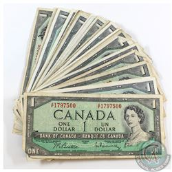 50 x 1954 $1.00 Notes in Average Circulated Condition. 50pcs.