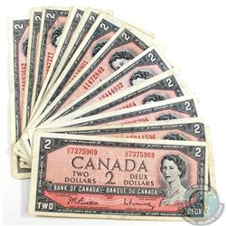 25 x 1954 $2.00 Notes in Average Circulated Condition. 25pcs.