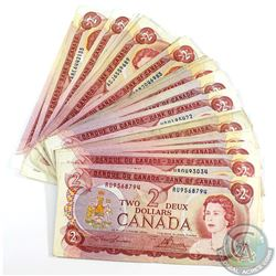 25 x 1974 $2.00 Notes in Average Circulated Condition. 25pcs.